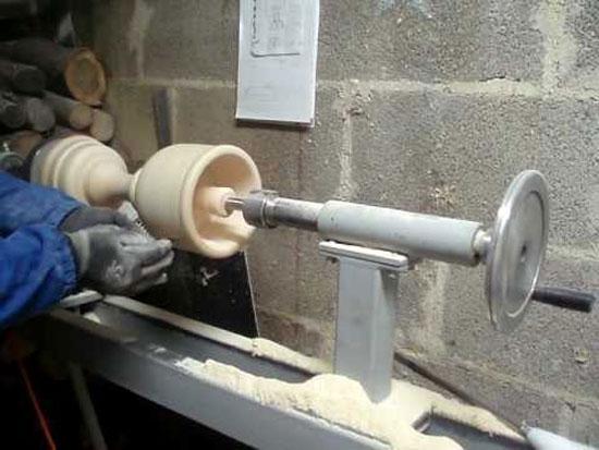 Piccolo tornio per legno