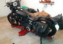Pedana con ruote per spostare la moto